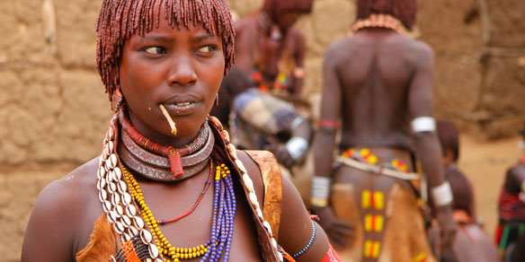 Bena Tribal Woman, Omo Valley, Ethiopia