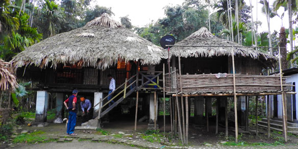 Traditional Tai Khamti Tribal House, India