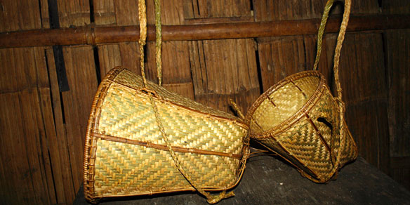 Tribal Handicraft Cane and Bamboo Baskets, India