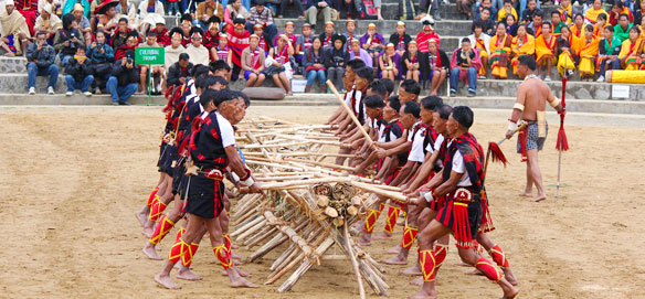 Tribal Hornbill Festival Performance, Nagaland, India