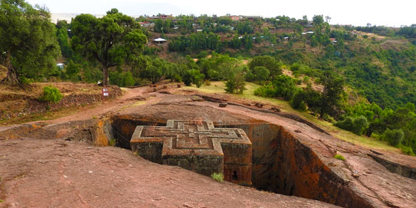 Rockhewn Church, Lalibea, Ethiopia