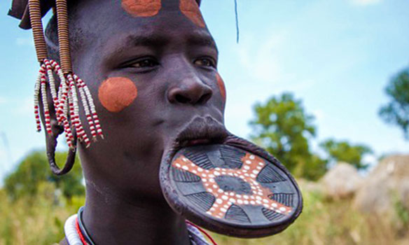 Mursi Woman, Omo Valley, Ethiopia